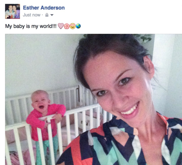 If at all possible, find a baby to use in your selfie because everyone likes babies and you'll get lots of likes.